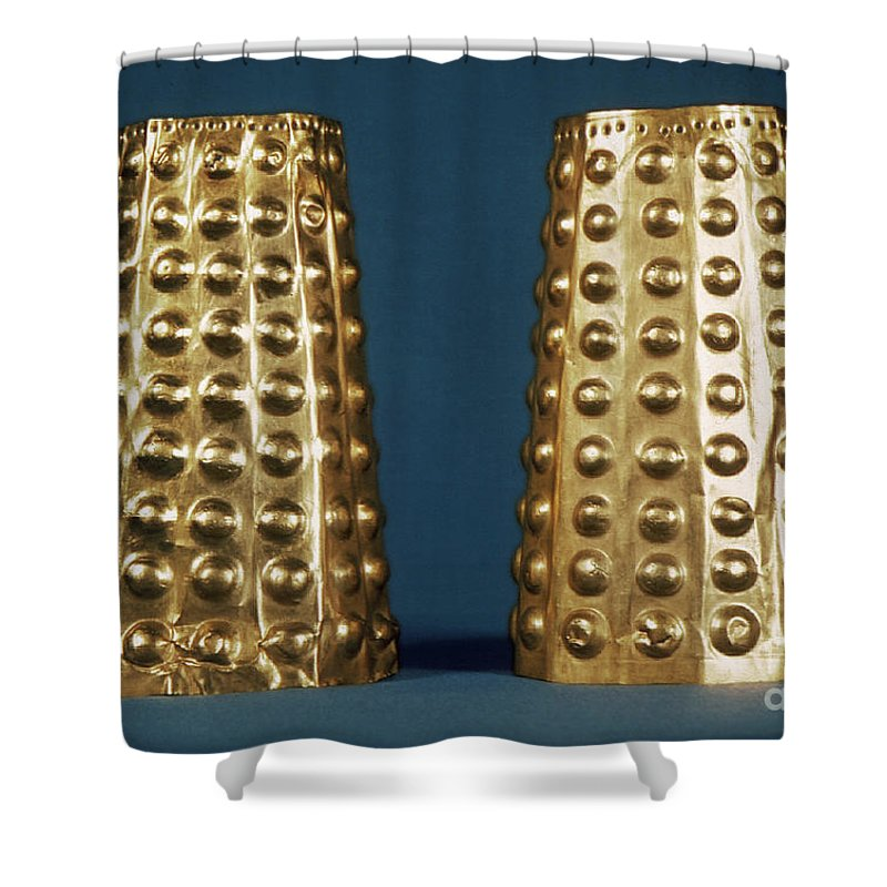 Antique Shower Curtain featuring the photograph Ecuador: Gold Cuffs by Granger