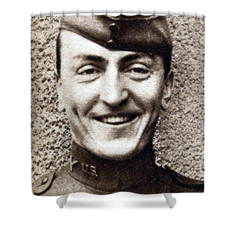 Aviation Shower Curtain featuring the photograph Eddie Rickenbacker, Wwi American Flying by Science Source