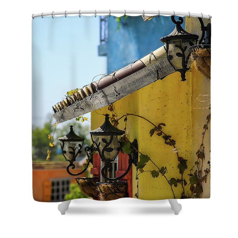 Spring Shower Curtain featuring the photograph Edge Of House by Hyuntae Kim