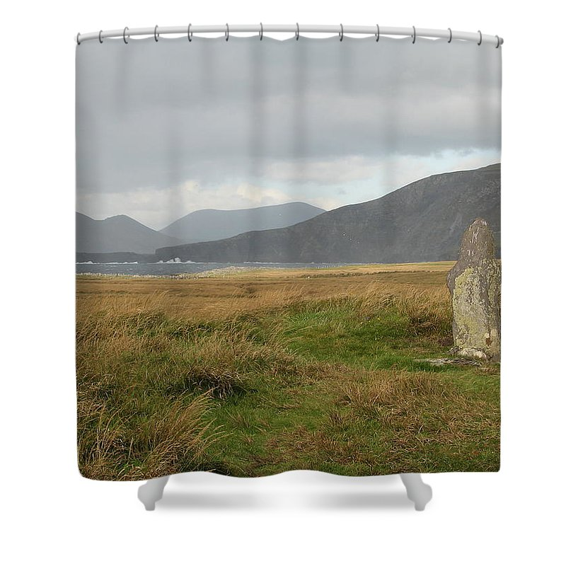 Medievil Shower Curtain featuring the photograph Edge Of The World by Kelly Mezzapelle