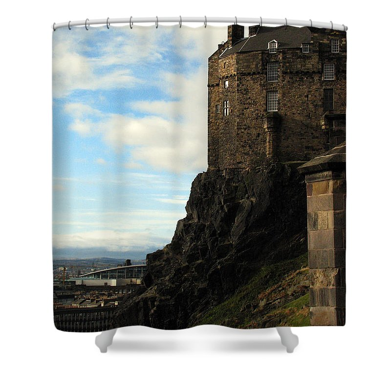 Castle Shower Curtain featuring the photograph Edinburgh Castle by Amanda Barcon