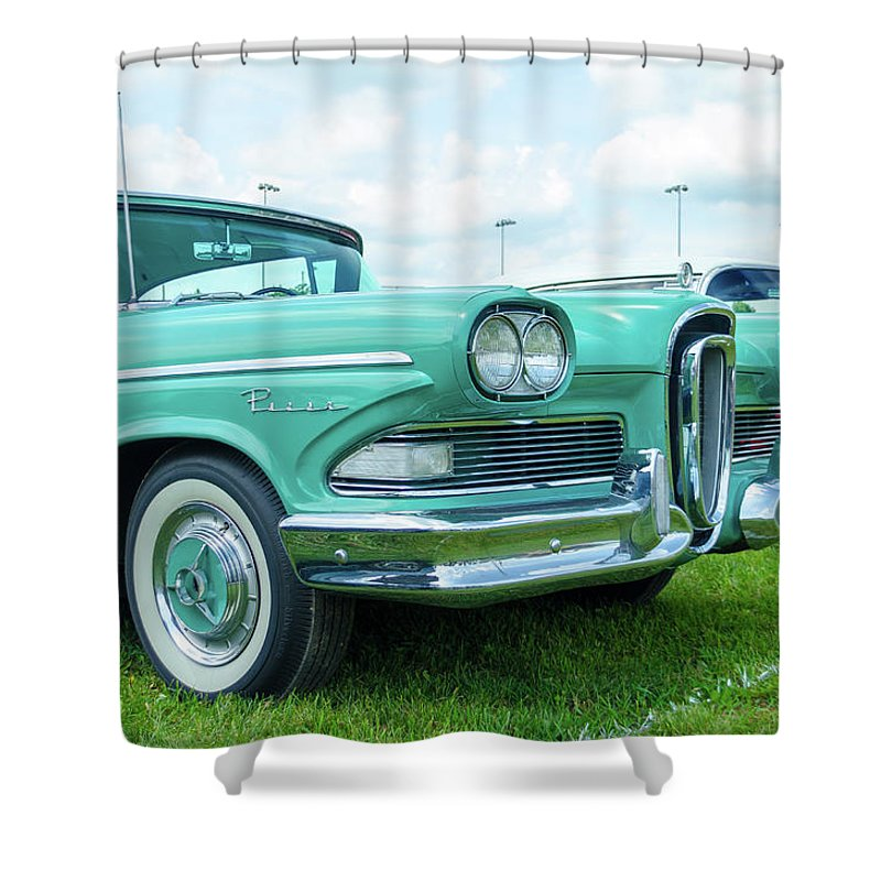 Gaetano Chieffo Shower Curtain featuring the photograph Edsel by Gaetano Chieffo