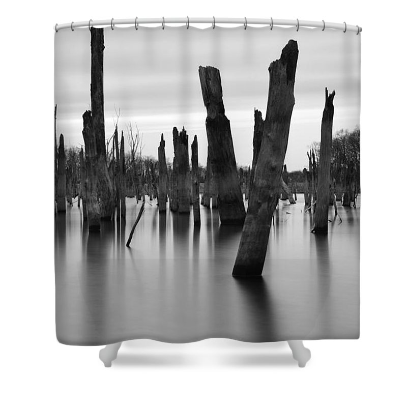 Lake Shower Curtain featuring the photograph Eerie Lake by Jennifer Ancker