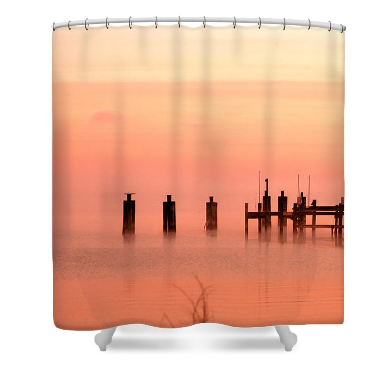 Clay Shower Curtain featuring the photograph Eery Morn by Clayton Bruster