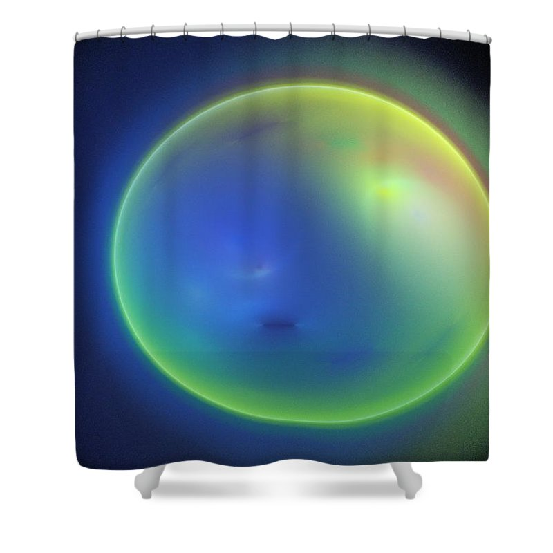 Fractal Shower Curtain featuring the digital art Egg by Lyle Hatch