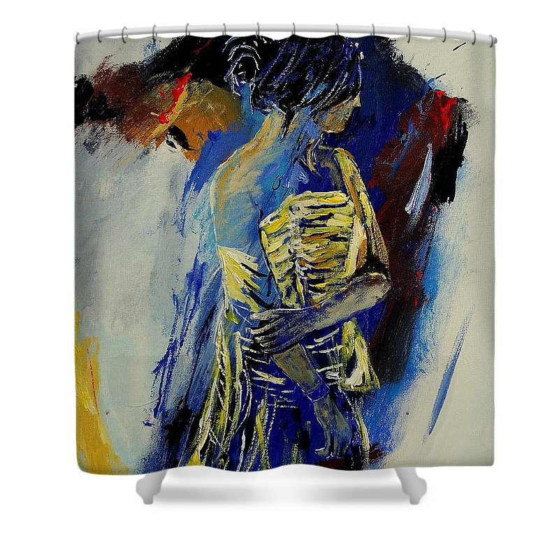 Girl Shower Curtain featuring the painting Eglantine 450110 by Pol Ledent