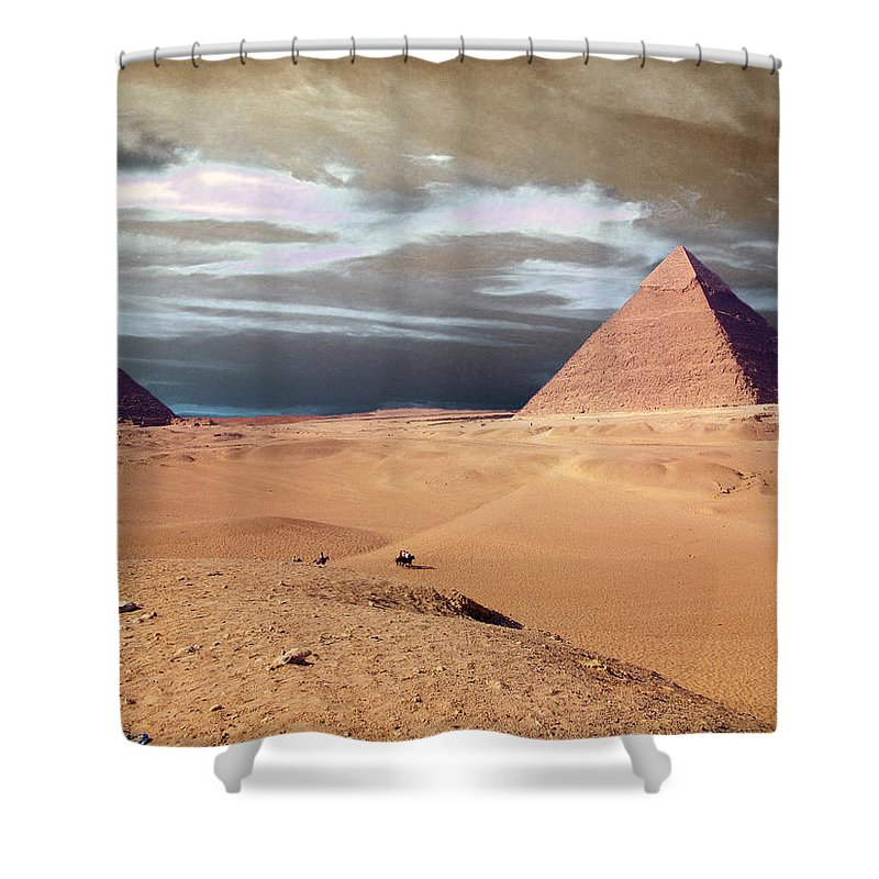 Eye Shower Curtain featuring the photograph Egypt Eyes by Munir Alawi