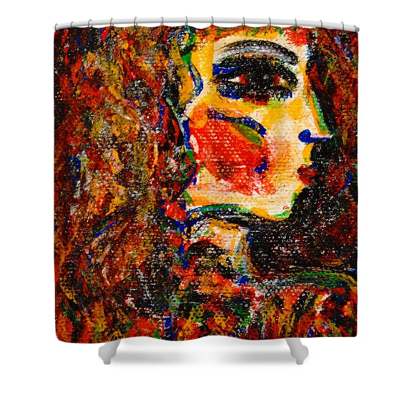 Ancient Egypt Shower Curtain featuring the painting Egyptian by Natalie Holland