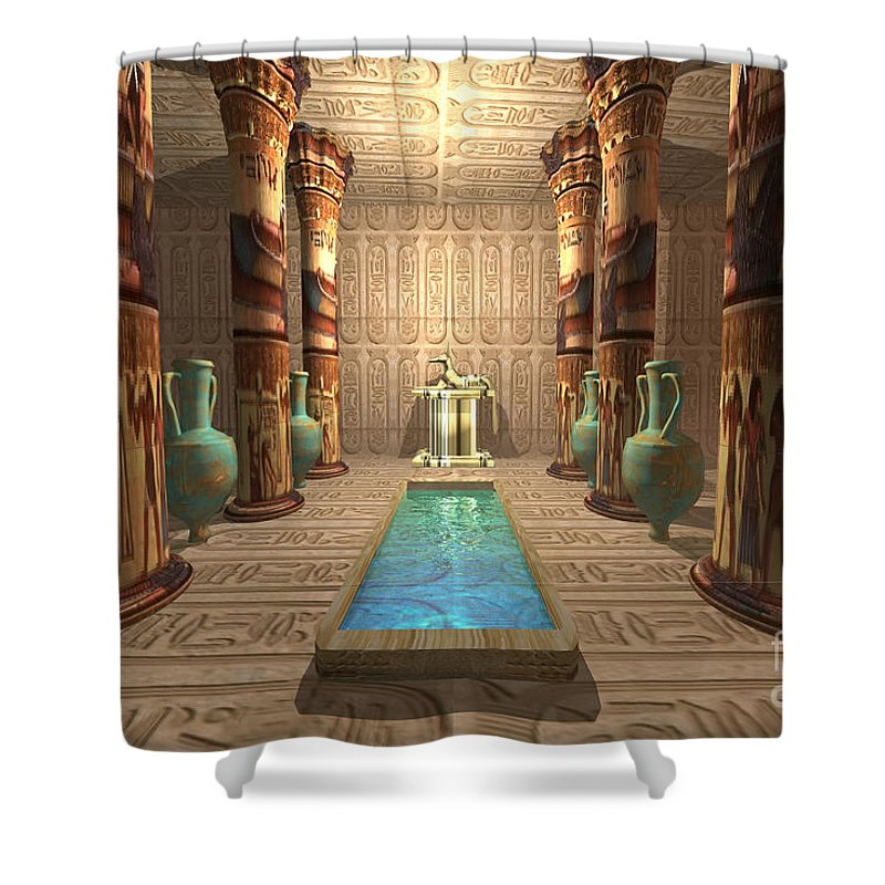 Egyptian Temple Shower Curtain For Sale By Corey Ford