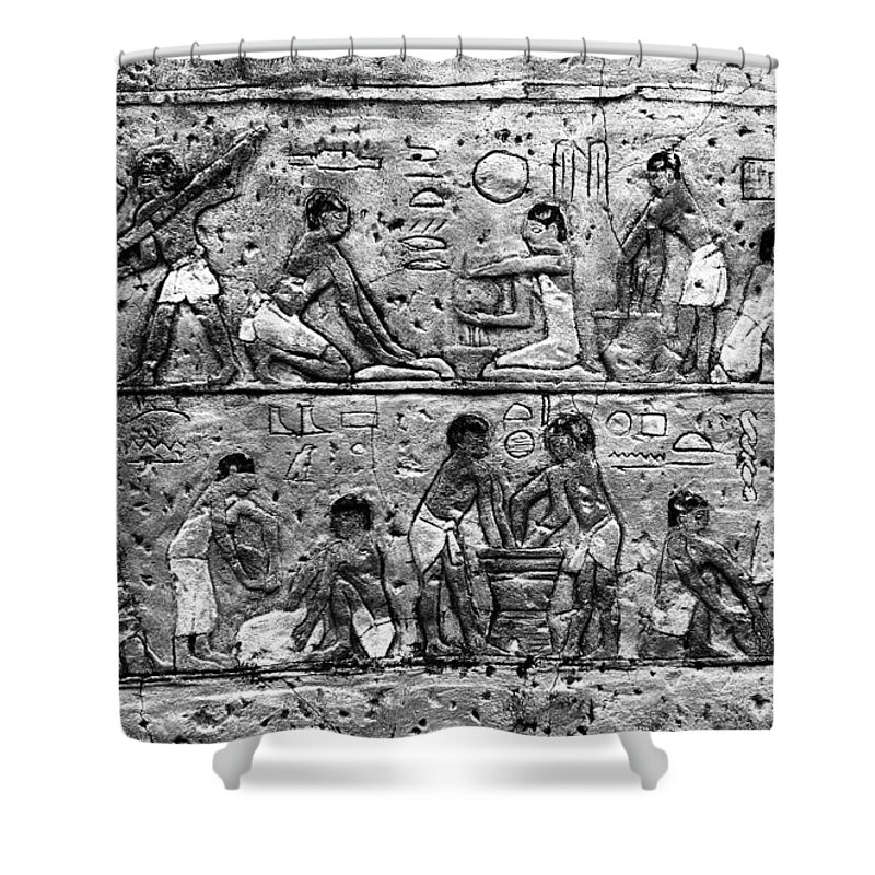 Egyptian Shower Curtain featuring the photograph Egyptian Writing by David Lee Thompson