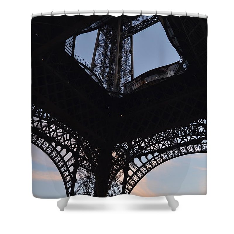 Eiffel Tower Shower Curtain featuring the photograph Eiffel Tower Corner by Dawn Crichton