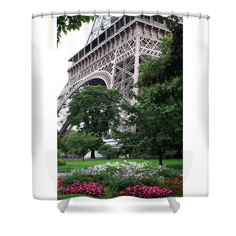 Eiffel Shower Curtain featuring the photograph Eiffel Tower Garden by Margie Wildblood