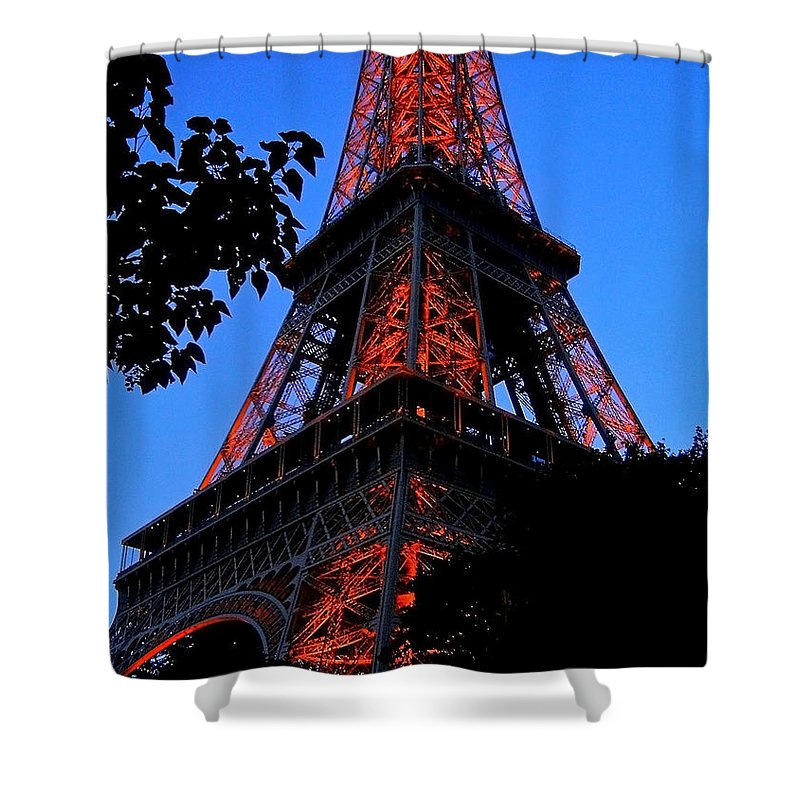 Europe Shower Curtain featuring the photograph Eiffel Tower by Juergen Weiss