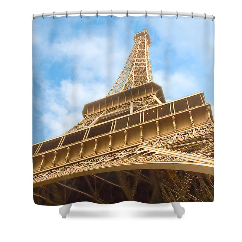 Eiffel Tower Shower Curtain featuring the photograph Eiffel Tower by Mick Burkey