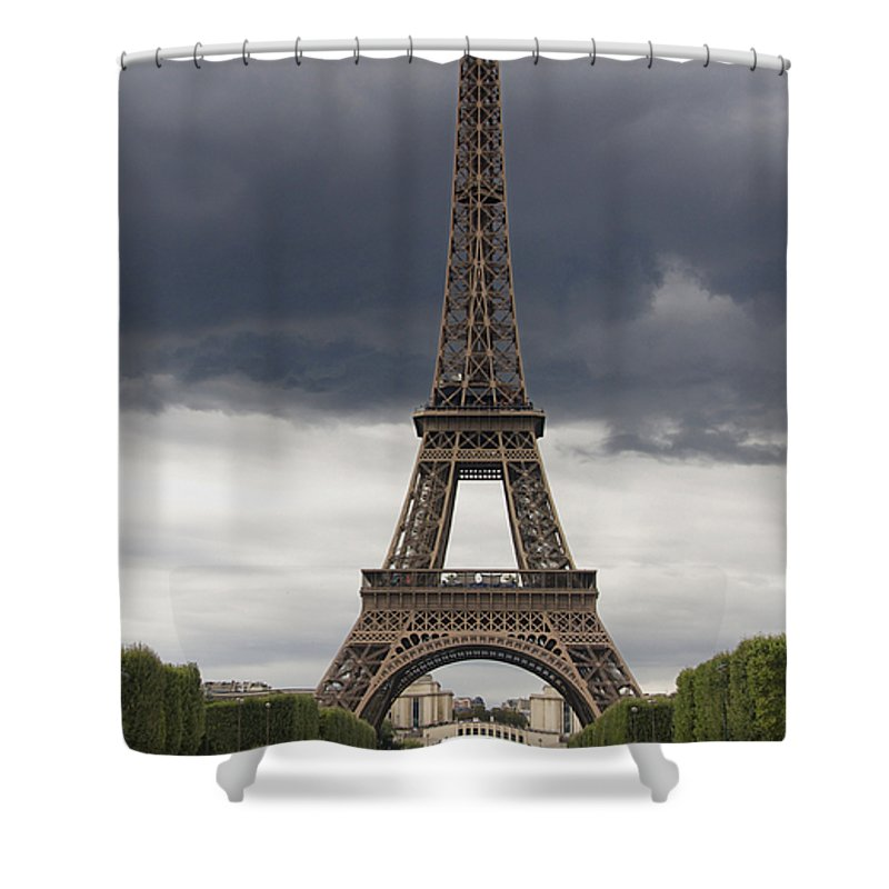 Paris Shower Curtain featuring the photograph Eiffel Tower. Paris by Bernard Jaubert