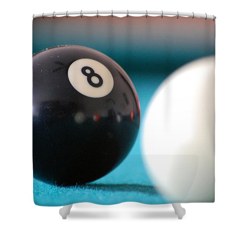 Billiards Shower Curtain featuring the photograph Eightball by Robert Meanor