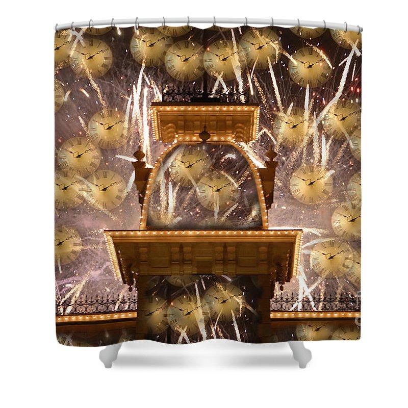 Art.clocks Shower Curtain featuring the photograph Einstein's Dream by David Lee Thompson