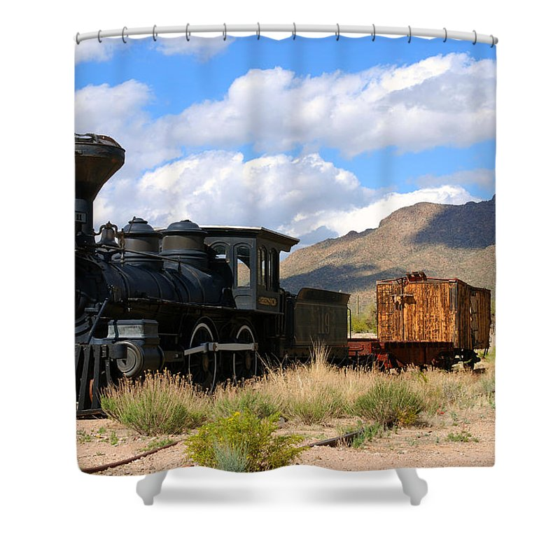 Photography Shower Curtain featuring the photograph El Reno by Susanne Van Hulst