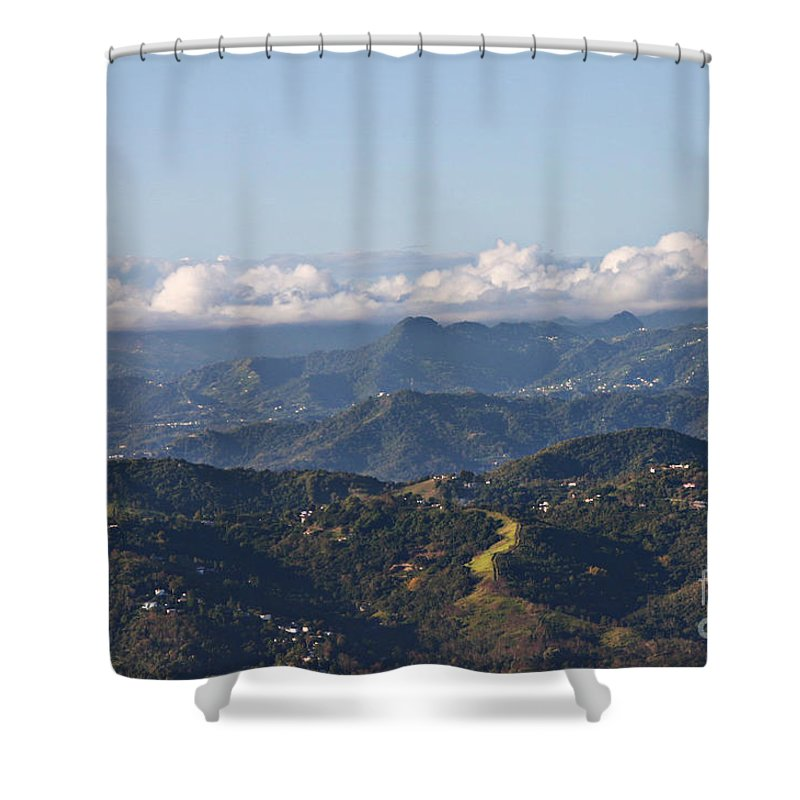 Mountains Shower Curtain featuring the photograph El Yunque Way by Gilbert