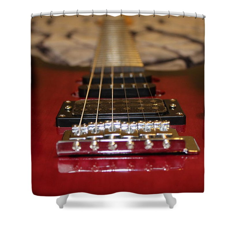 Guitar Shower Curtain featuring the photograph Electric by Adam Norman