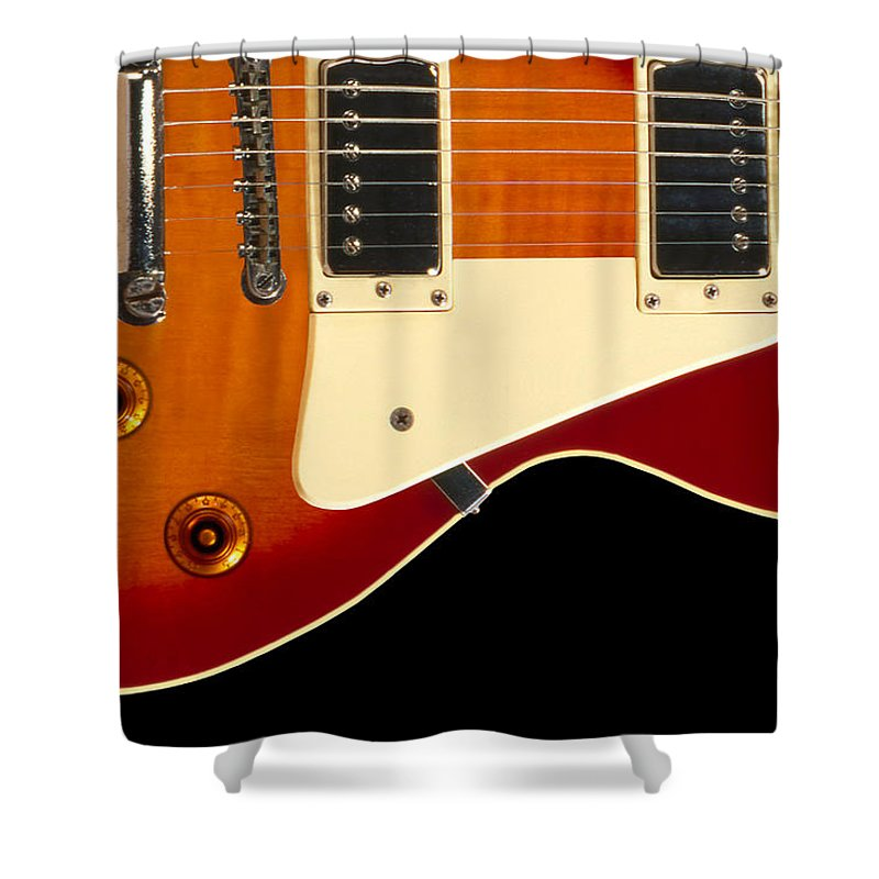 Rock And Roll Shower Curtain featuring the photograph Electric Guitar 4 by Mike McGlothlen