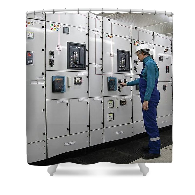 Electrical Panel Board Manufacturers Shower Curtain featuring the digital art Electrical Panel Board Manufacturers by Sonu Kumar
