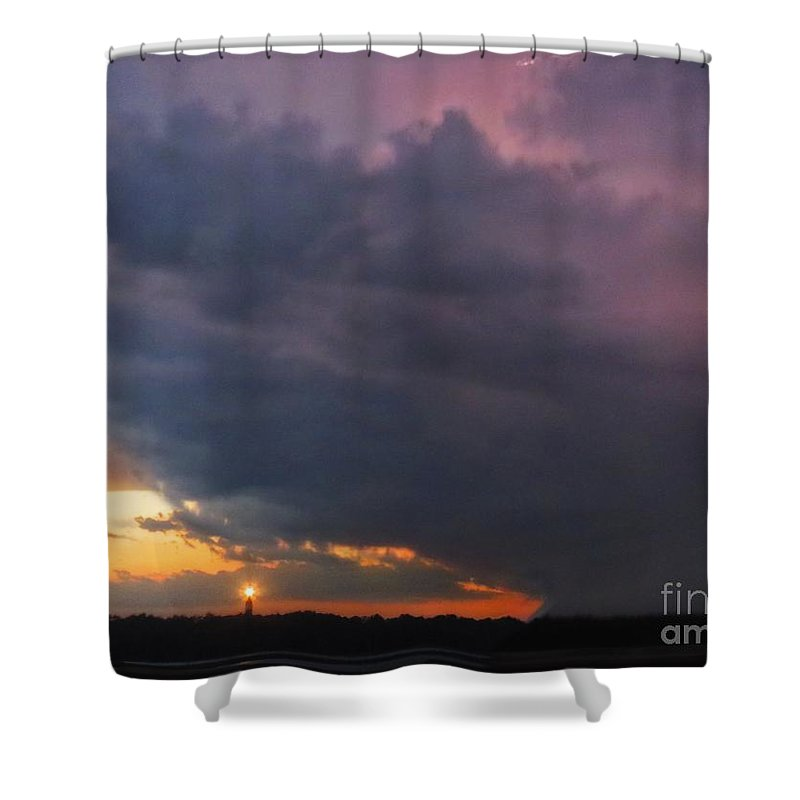 Storm Shower Curtain featuring the photograph Electricity by Rrrose Pix