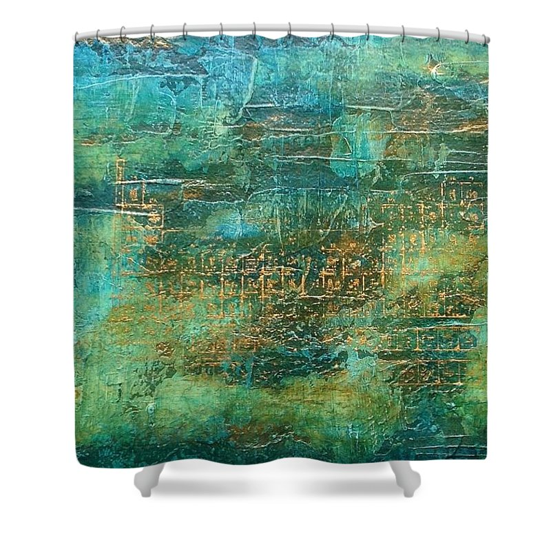 Shower Curtain featuring the painting Elementi I by Vanessa Grant