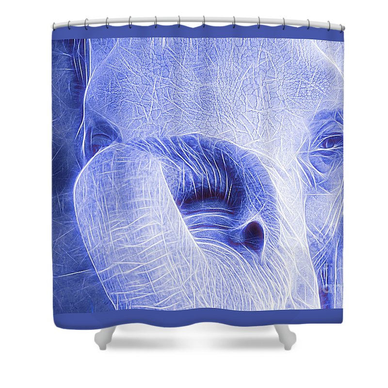 Elephant Shower Curtain featuring the photograph Elephant Looking Electrified by Randy J Heath