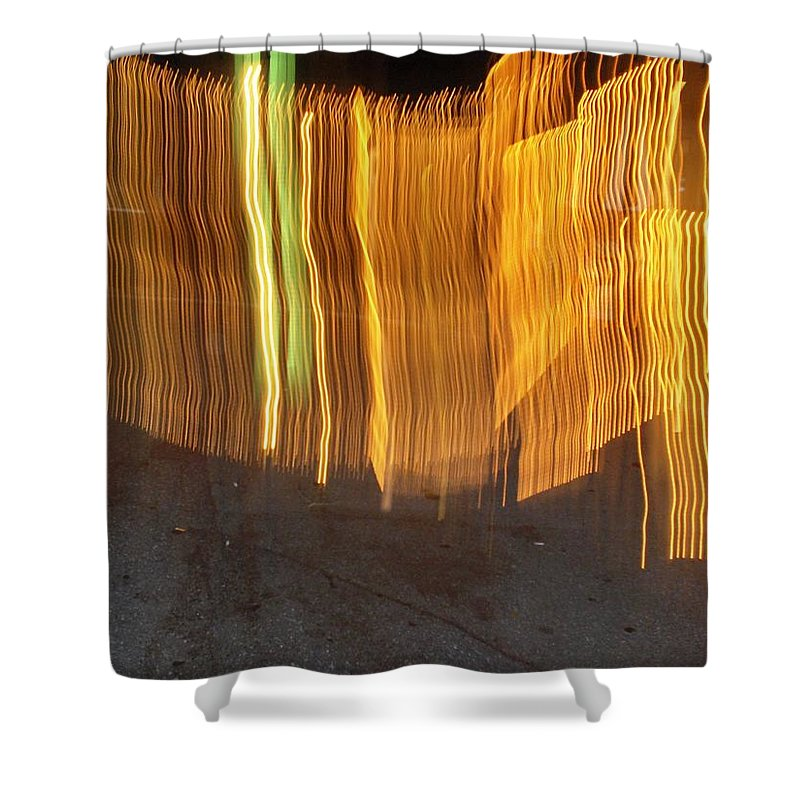 Photograph Shower Curtain featuring the photograph Eletric Fence by Thomas Valentine