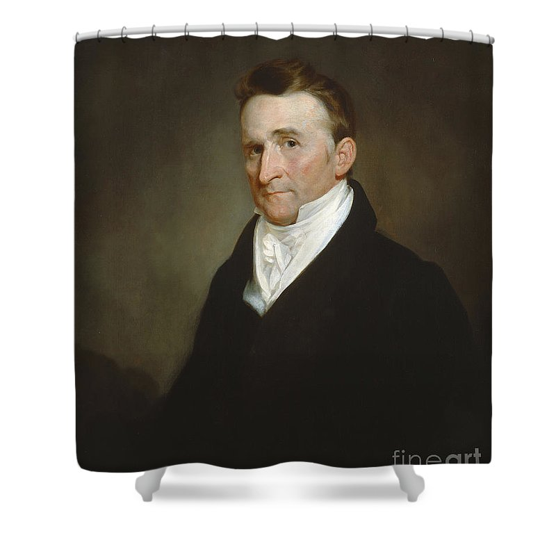 Shower Curtain featuring the painting Eliphalet Terry by Samuel Finley Breese Morse