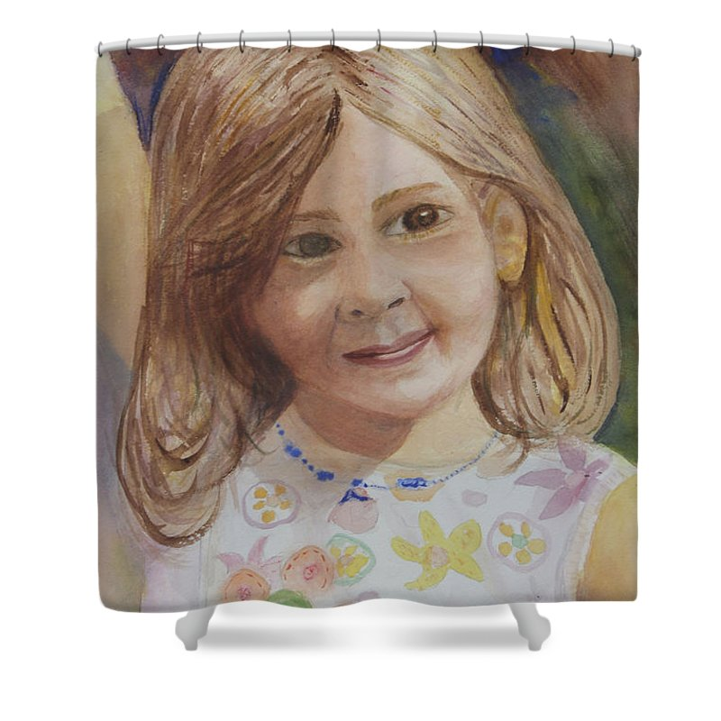 Elizabeth Shower Curtain featuring the painting Elizabeth by Donna Walsh