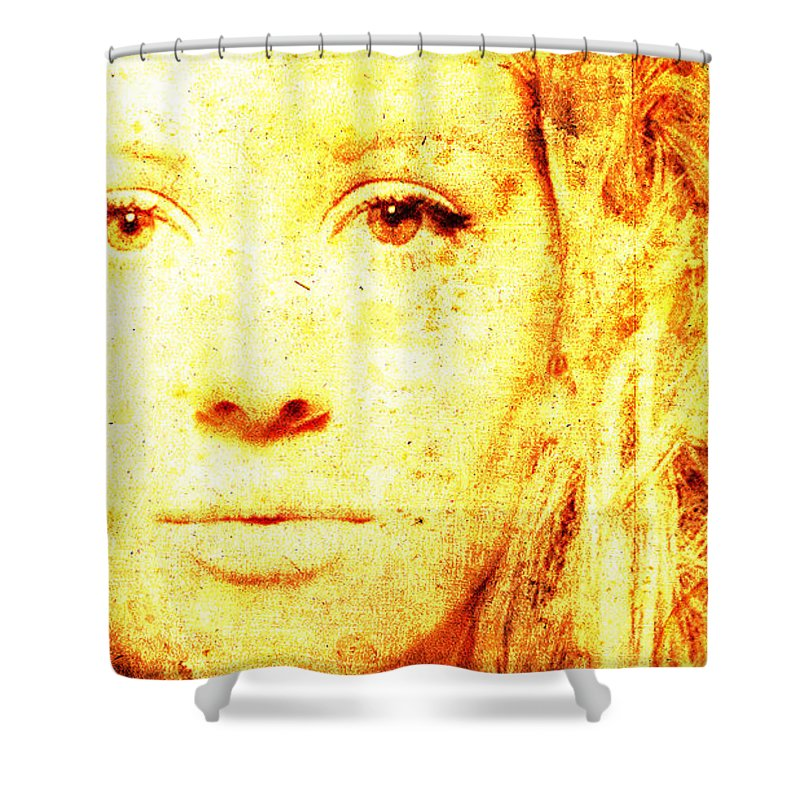 Ellie Goulding Shower Curtain featuring the painting Ellie Goulding by Drawspots Illustrations