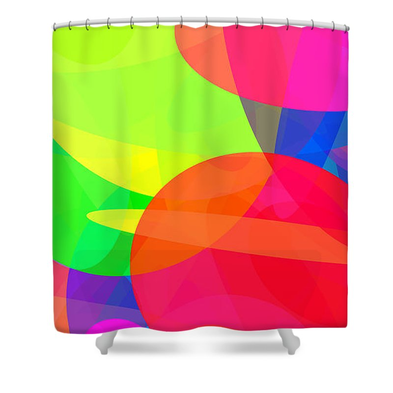 Ellipse Shower Curtain featuring the digital art Ellipses 11 by Chris Butler