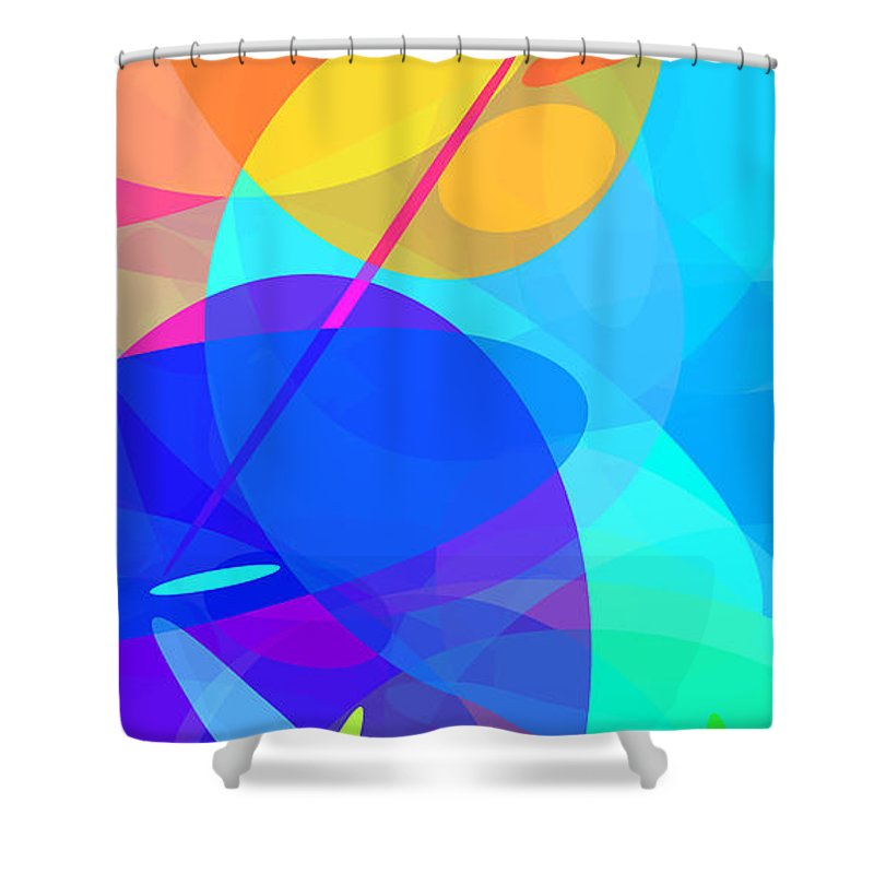 Ellipse Shower Curtain featuring the digital art Ellipses 15 by Chris Butler