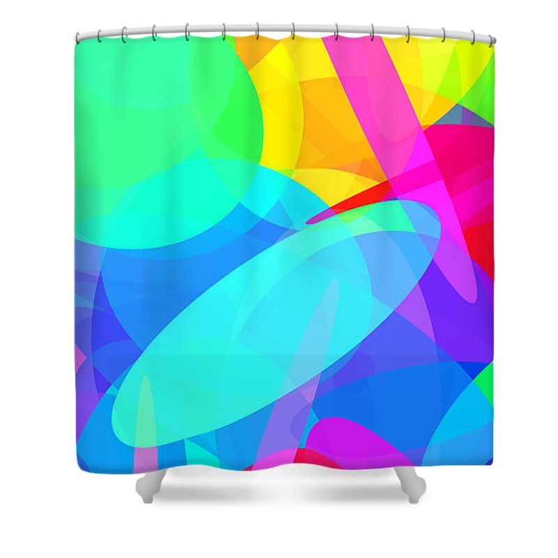 Ellipse Shower Curtain featuring the digital art Ellipses 19 by Chris Butler