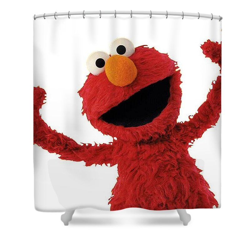 Elmo Shower Curtain Featuring The Photograph By Sesame Street