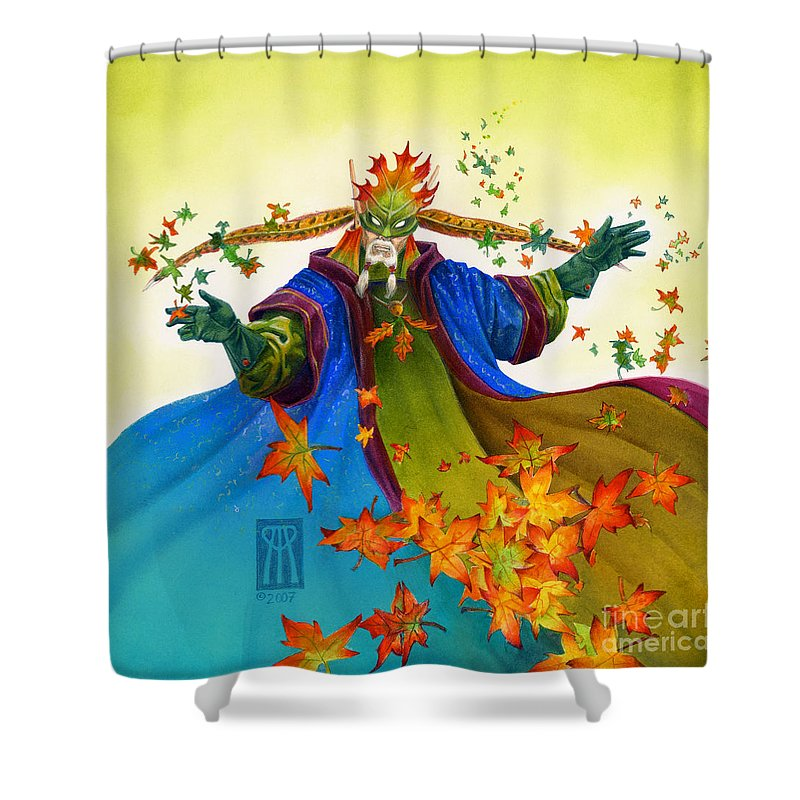 Elf Shower Curtain featuring the painting Elven Mage by Melissa A Benson