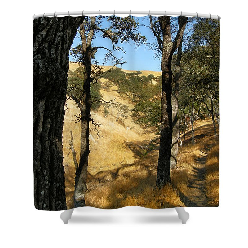 Landscape Shower Curtain featuring the photograph Elyon's Doorway by Karen W Meyer