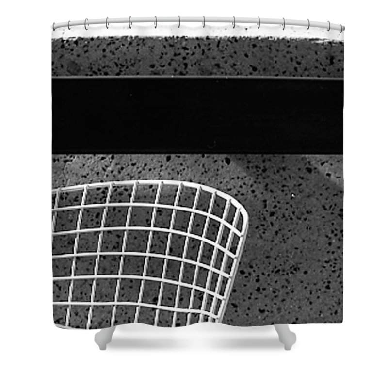 Cityscapes Shower Curtain featuring the photograph Embarcadero Chair by Norman Andrus
