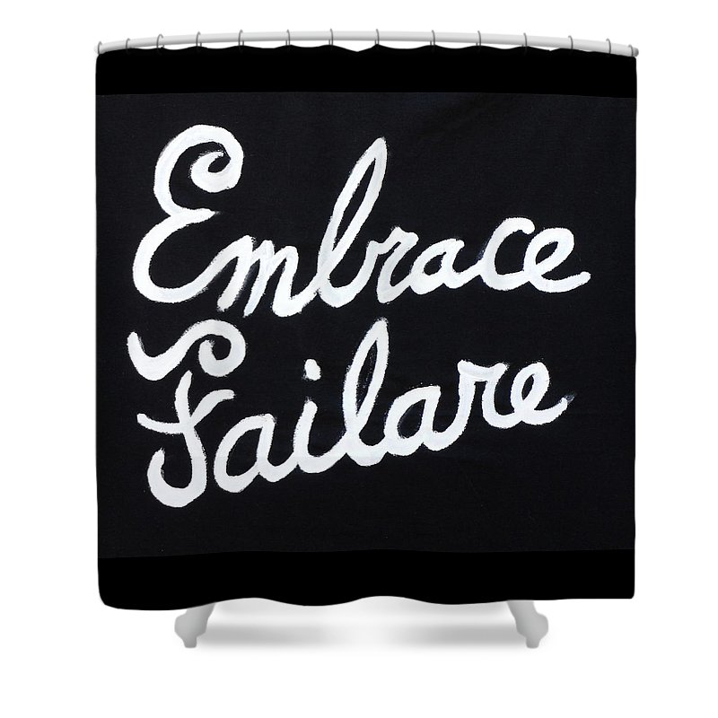 Failure Shower Curtain featuring the painting Embrace Failare by John Kilduff