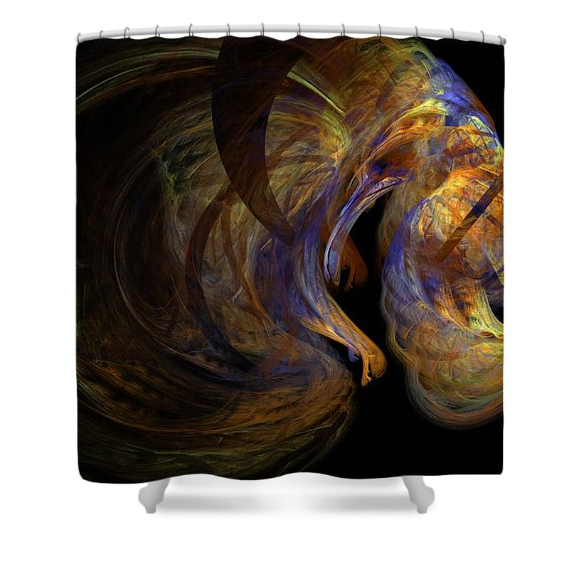 Abstract Digital Photo Shower Curtain featuring the digital art Embryonic by David Lane