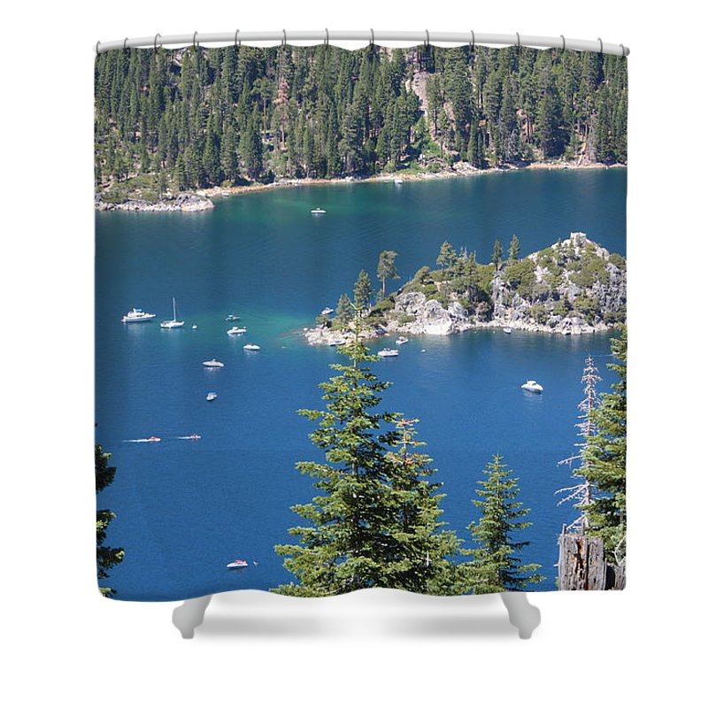 Emerald Bay Shower Curtain featuring the photograph Emerald Bay by Carol Groenen
