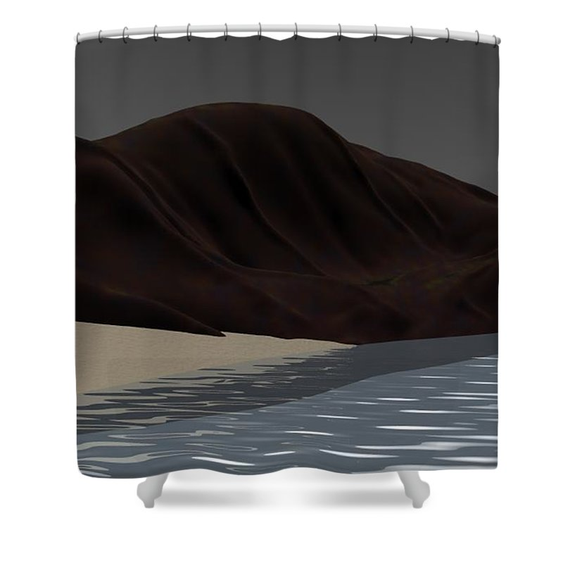 Abstract Shower Curtain featuring the digital art Emotion by David Lane