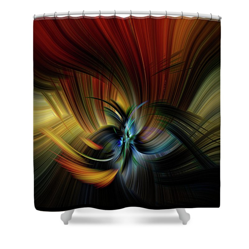 Design Shower Curtain featuring the digital art Emotional Release by Mark Myhaver