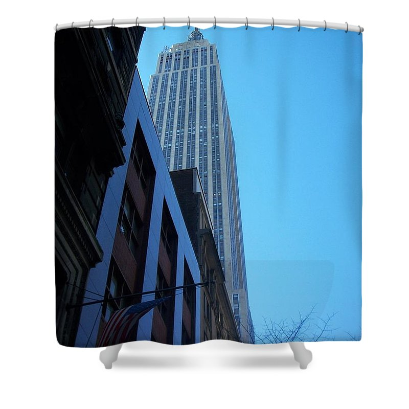Emoire State Building Shower Curtain featuring the photograph Empire State 1 by Anita Burgermeister