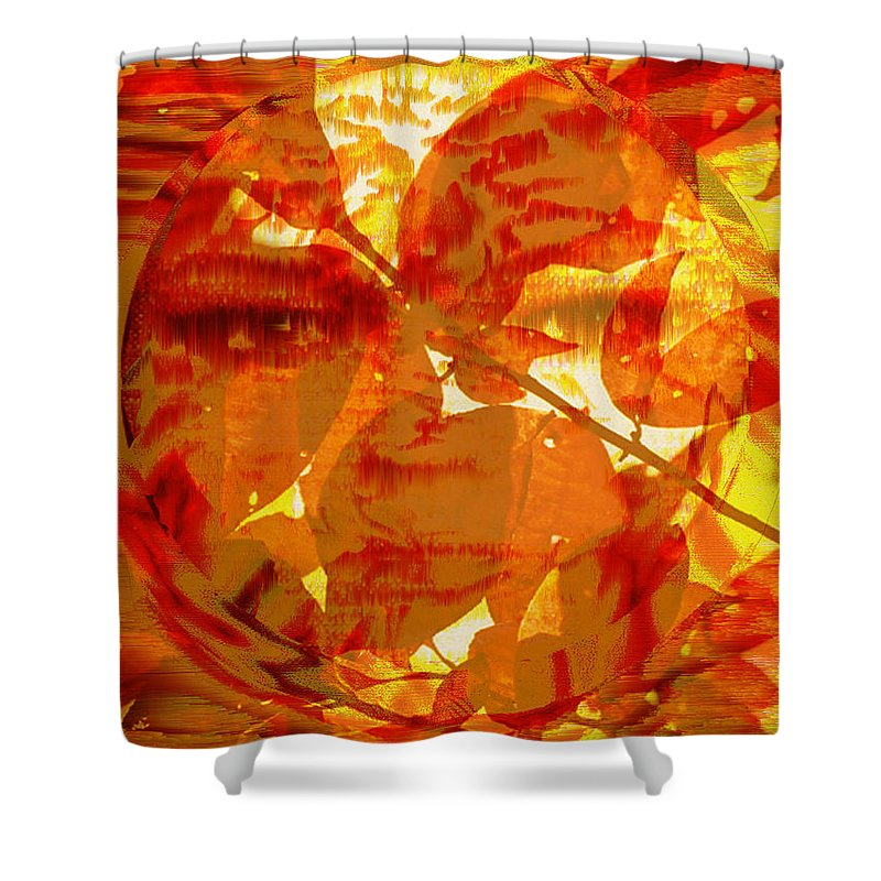 Oriental Shower Curtain featuring the digital art Empress Of The Sun by Seth Weaver