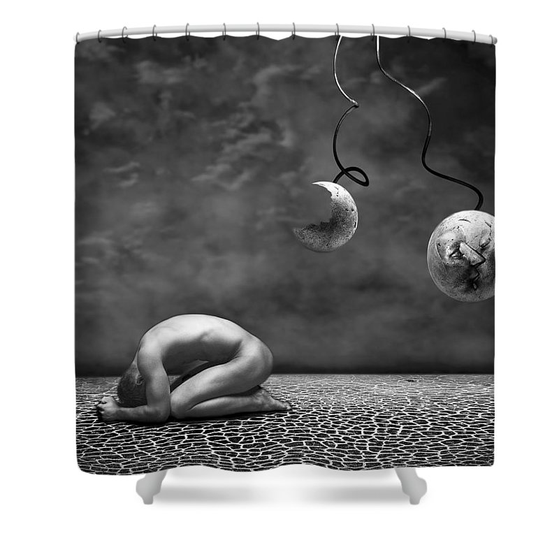 Photodream Shower Curtain featuring the photograph Emptiness II by Jacky Gerritsen