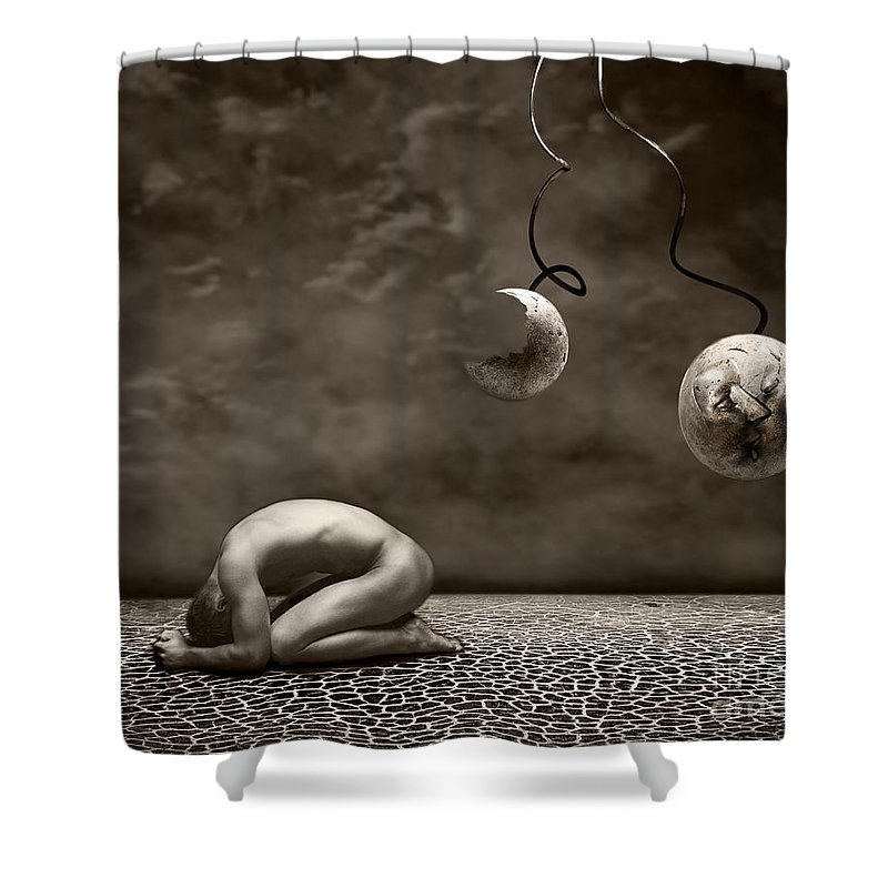 Surreal Shower Curtain featuring the photograph Emptiness by Jacky Gerritsen