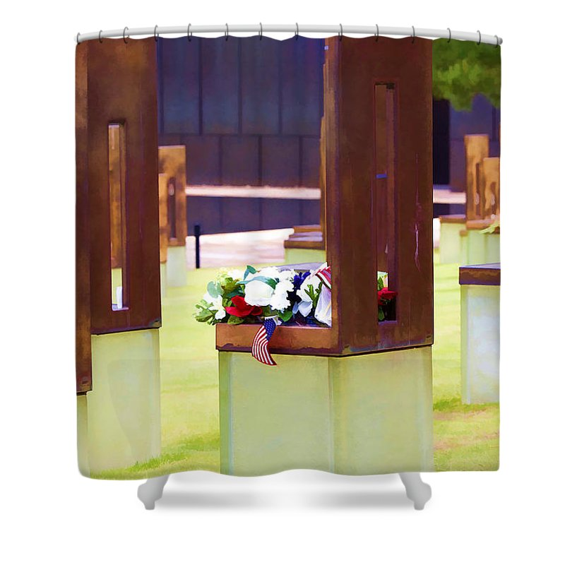 Oklahoma Shower Curtain featuring the photograph Empty Chairs by Ricky Barnard